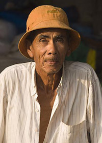 Southern Thailand Andaman tourism - local villager