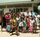 Kids and volunteers at tSouthern Thailand Orphanage