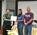 Noon and Bee received the certificated