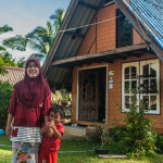 Homestay host Ja Day and her Son Farit
