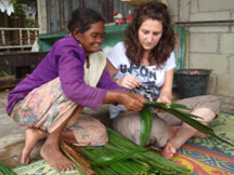 Cultural activites - Nipa palm weaving