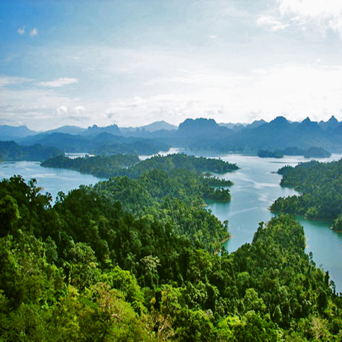 Khao Sok Lake Aerial View