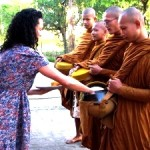 Monk offering homestay Thailand