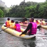 Canoeing in Khao Sok community Thailand