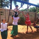 Chidren playing at the Migrant Education Program Kuraburi, Phang Nga