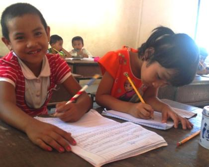 Chidren studying at Migrant Education Program Kuraburi, Phang Nga