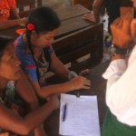 Signing up for Parents association at the burmese learning center kuraburi