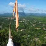 View above Khao Sok community Thailand