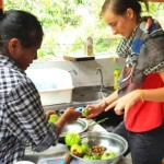 Cooking class at our homestay in Thailand in Sai Khao Patthani