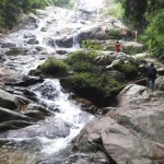 Waterfall in Thailand at our homestay in thailand in Yala