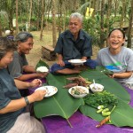 Pi Nat and Pi Tui having lunch with the famous Da Luang